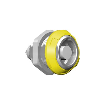 ODU MEDI-SNAP®  Front or Rear Panel Mount Receptacle, Size 1, IP50 , 10-Pos., 60 ° Key
