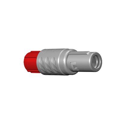 ODU MEDI-SNAP®  Straight Plug, Size 1, IP50 , 10-Pos., 30 ° Key
